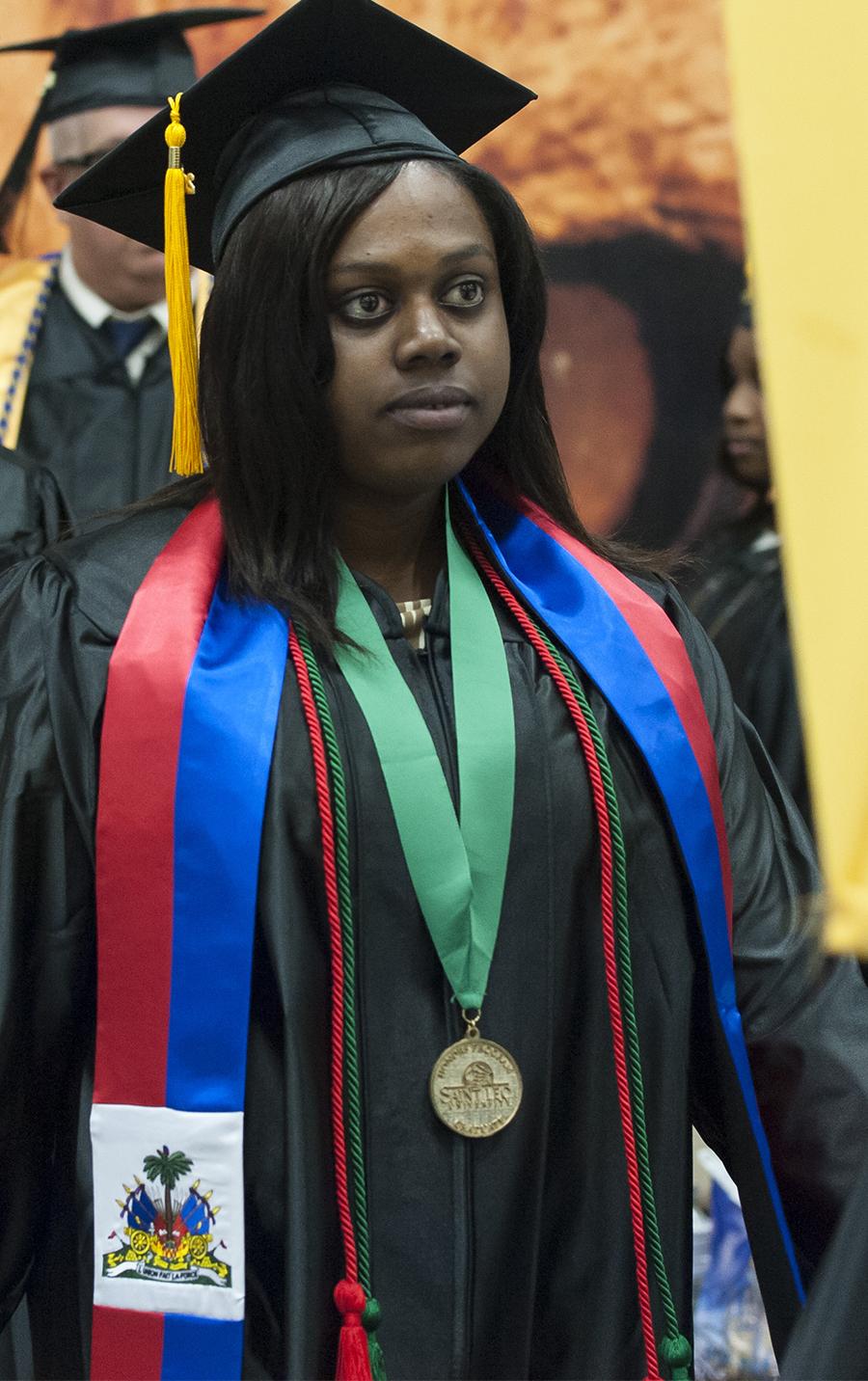 Cassy Anselme at graduation