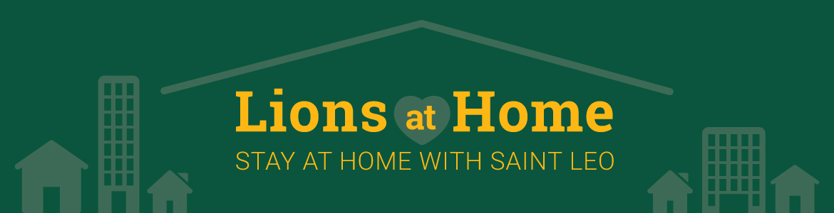 Stay at Home with Saint Leo banner