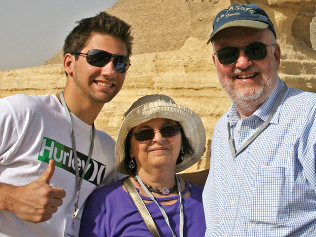 John and Rosa Wall with their son George '16
